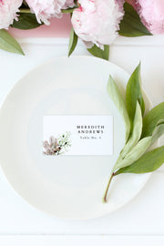 Alana - Modern Beach Wedding Place Cards Template