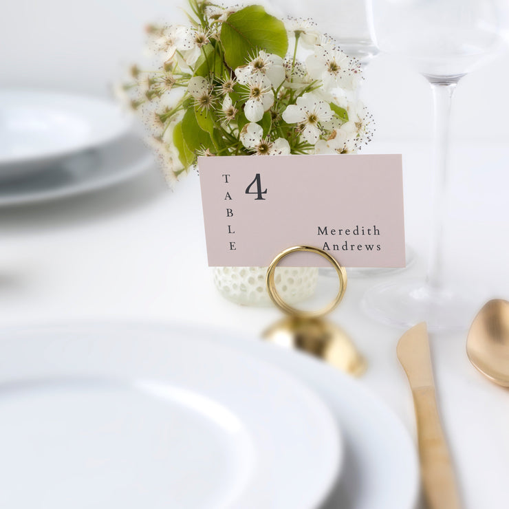 Mia - Earth Tone Wedding Place Card Template - Unmeasured Events