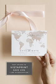 Carmen - Watercolor Map Destination Save the Date Template - Unmeasured Events
