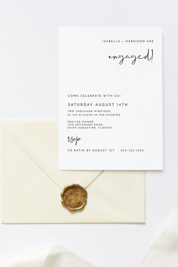 Adella - Modern Minimalist Engagement Invitation Template