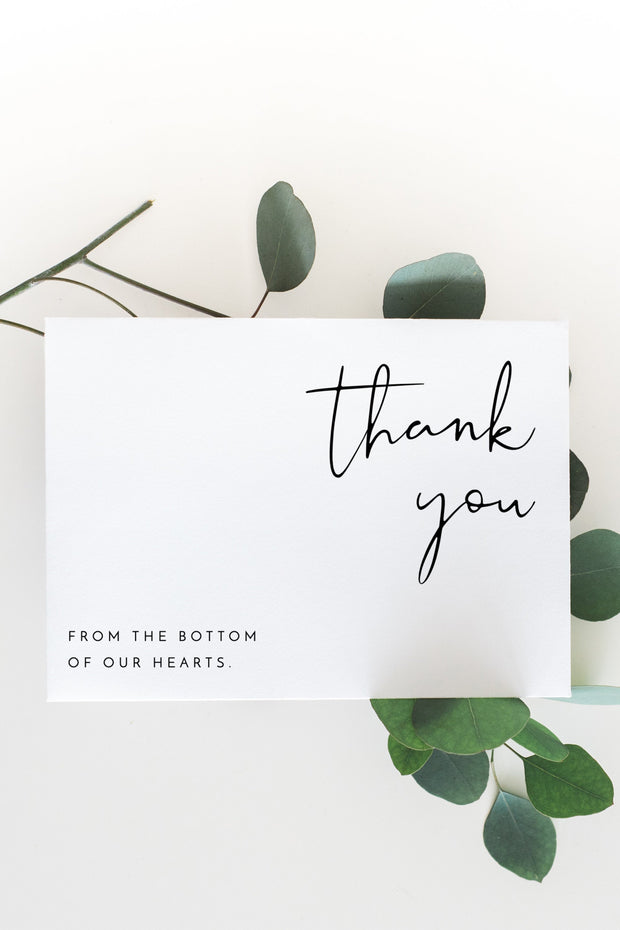 Adella - Modern Minimalist Wedding Thank You Card Template - Unmeasured Events