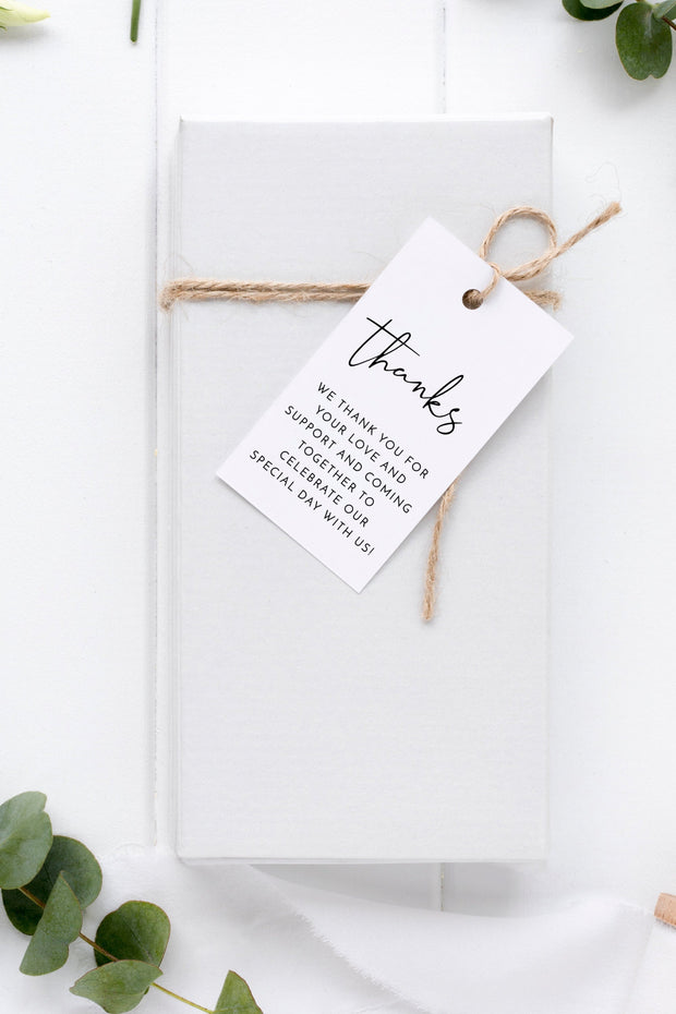 Adella - Modern Minimalist Favor Tag Template - Unmeasured Events