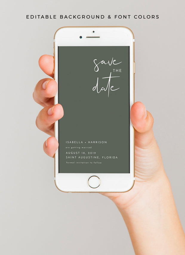 Adella - Modern Minimalist Text Save the Date Template