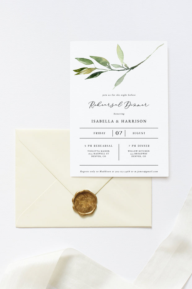 Isabella Rehearsal Dinner Invitation