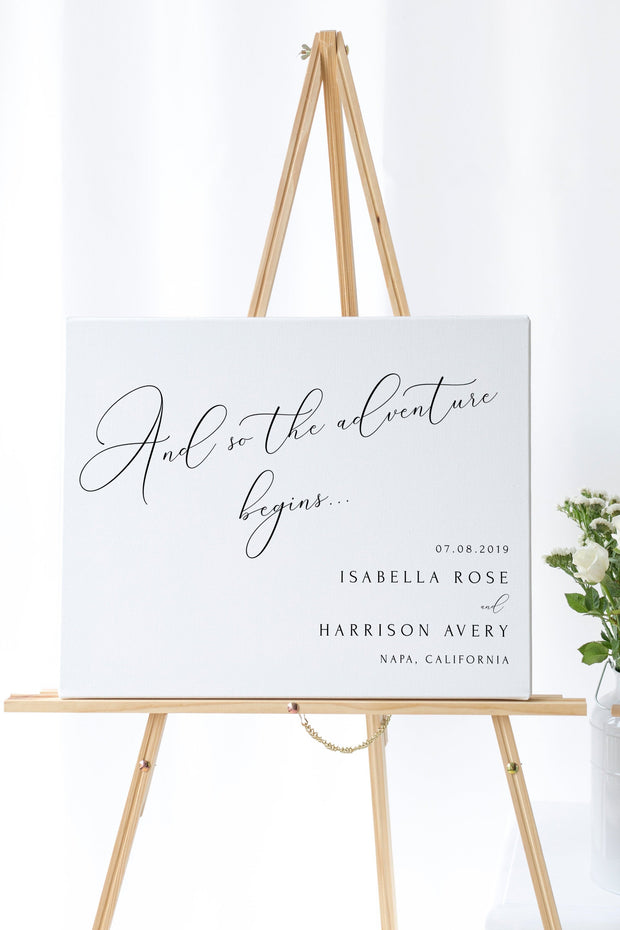 Asher - Minimalist Calligraphy Wedding Welcome Sign Template