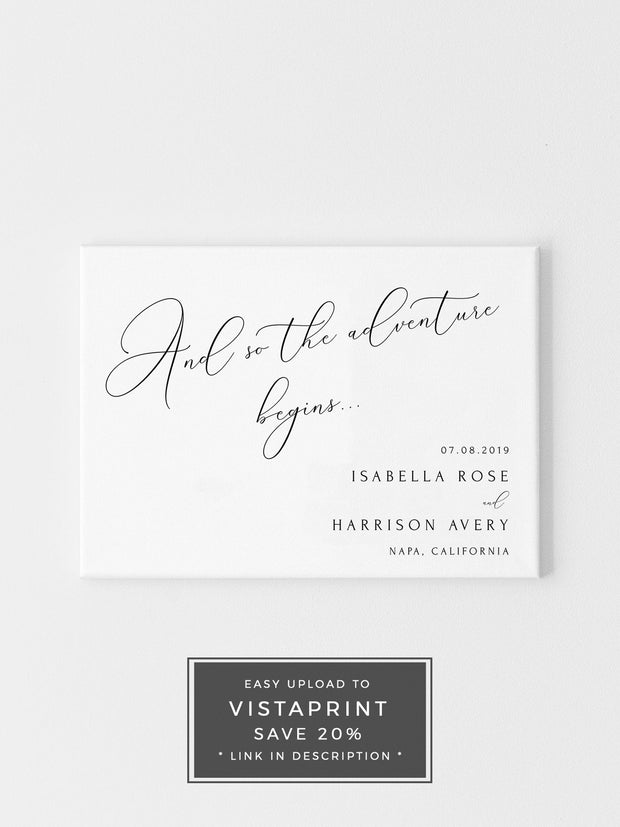 Asher - Minimalist Calligraphy Wedding Welcome Sign Template - Unmeasured Events