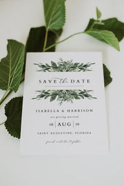 Lana - Modern Greenery Save the Date Template