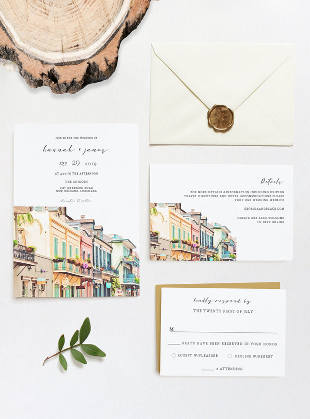 Nola - New Orleans Wedding 3 Piece Suite Templates - Unmeasured Events