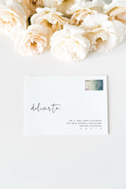 Adella - Modern Minimalist Wedding Envelope Addressing Template