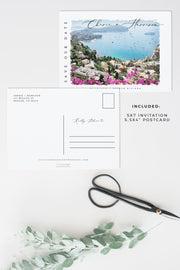 Cherie - Watercolor French Riviera Save the Date Template - Unmeasured Events
