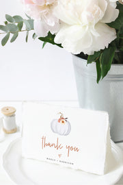 Amber - Fall Pumpkin Thank You Card Template - Unmeasured Events