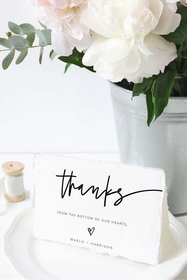 Marlo - Bold Contemporary Thank You Card Template