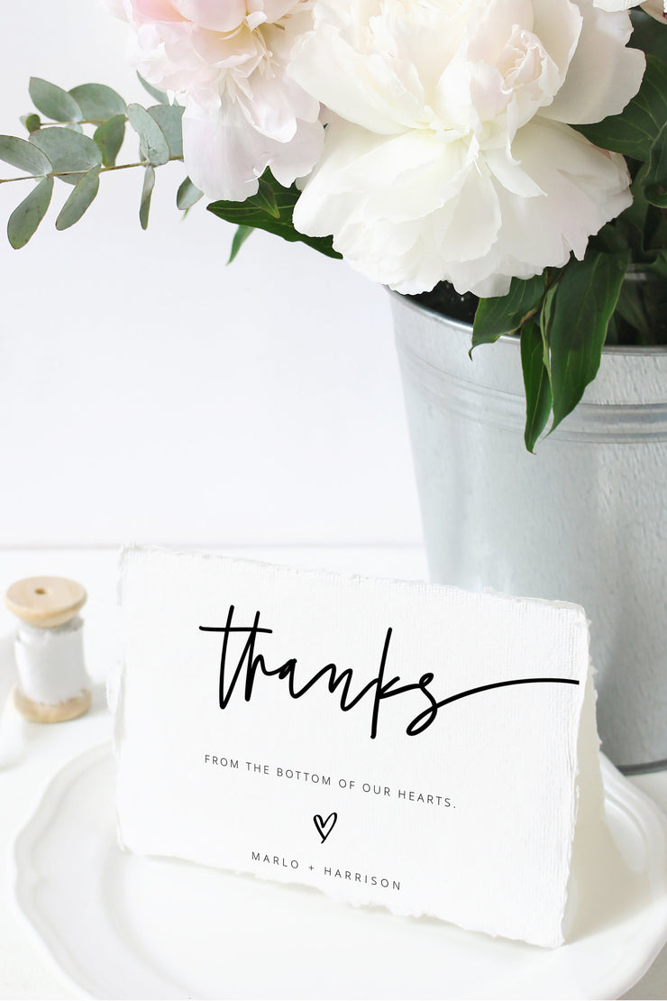Marlo - Bold Contemporary Thank You Card Template - Unmeasured Events