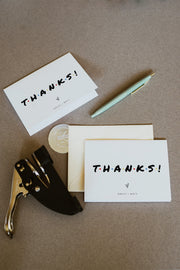 Rachel - Modern Friend Themed Thank You Card Template - Unmeasured Events