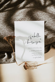 Adella - Modern Minimalist Wedding Invitation Template - Unmeasured Events
