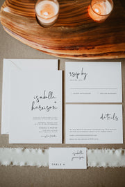 Adella - Modern Minimalist Wedding Invitation Template Suite - Unmeasured Events