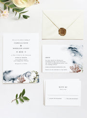 Alana - Modern Beach Wedding  Invitation Template Suite