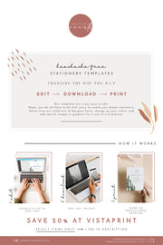 ASHER | Minimalist Calligraphy Wedding Program Template