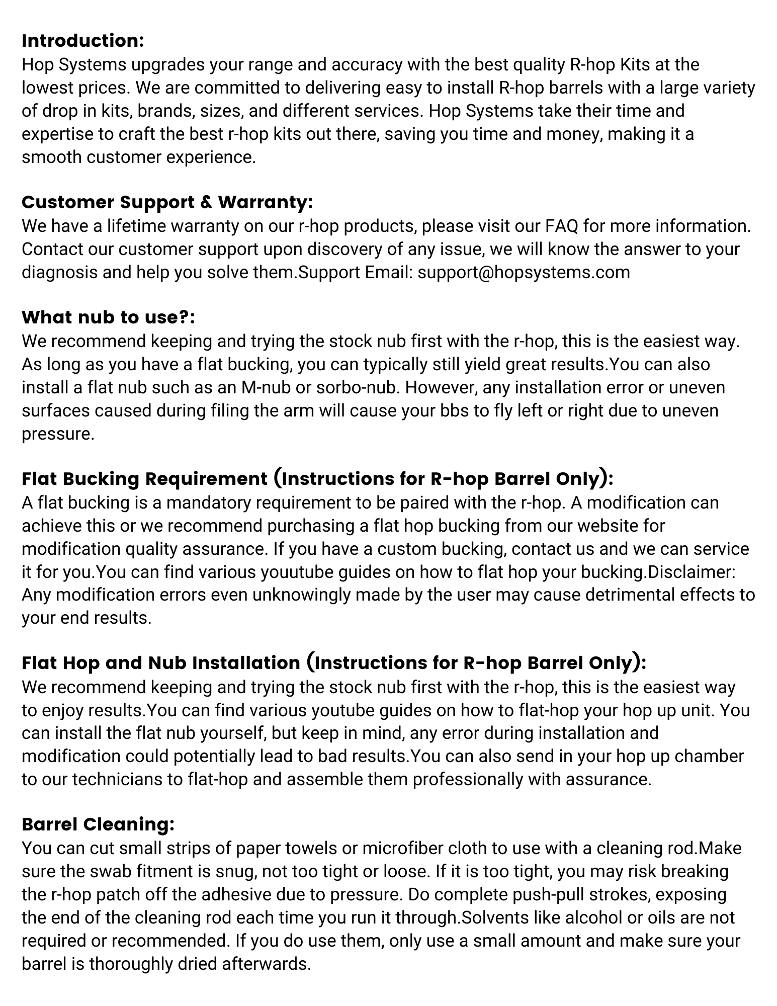 hop systems r-hop manual page 2