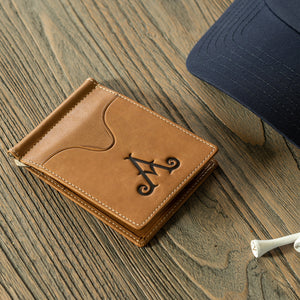 Adare Manor Leather Money Clip