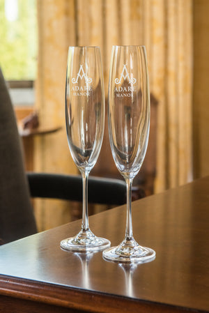 Adare Manor Tipperary Crystal Flutes