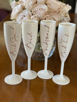 Hen Party Personalised Champagne Flutes