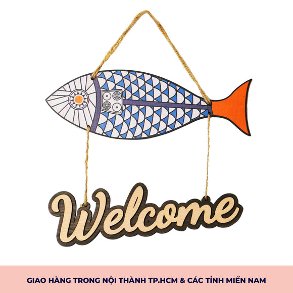Bảng Gỗ Welcome