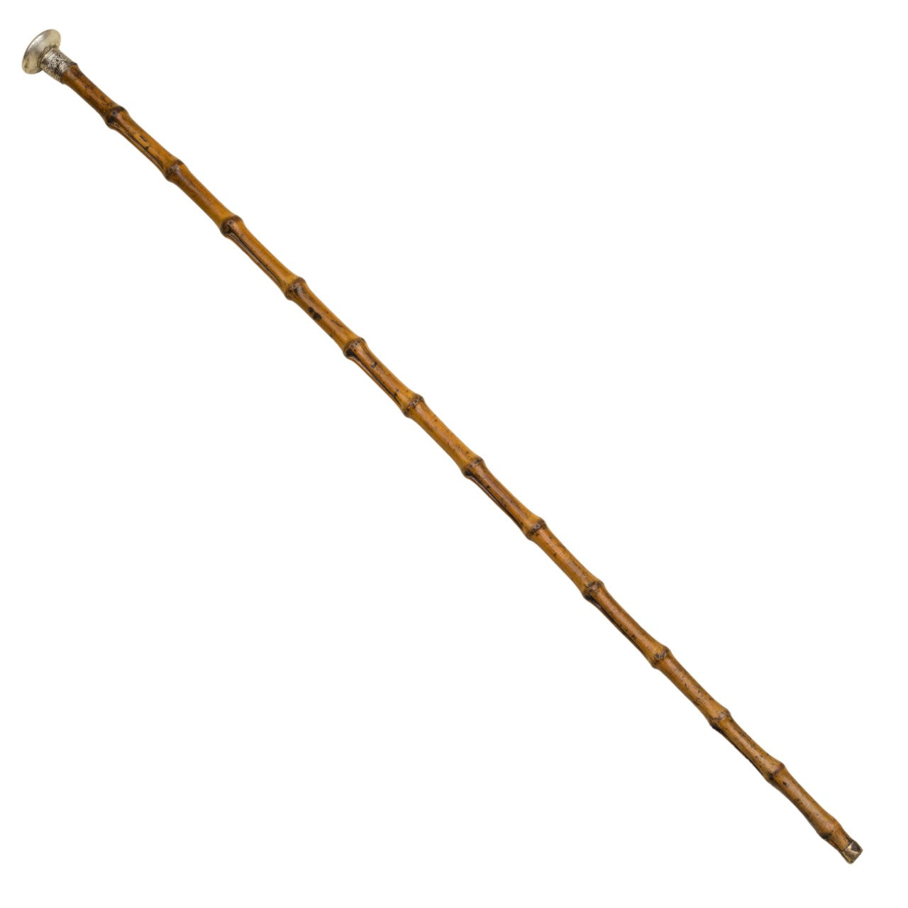 Whangee Bamboo Inspection Cane with Silver Pommel