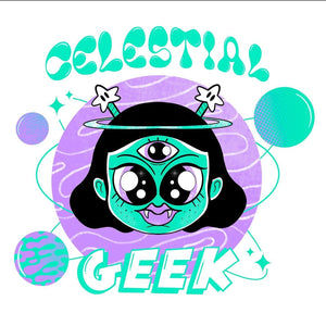 Celestial Geek - YAI Edition - Black Crew Neck Sweatshirt