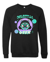 Load image into Gallery viewer, Celestial Geek - YAI Edition - Black Crew Neck Sweatshirt