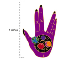 Load image into Gallery viewer, LLAP Enamel Pin | Sexy Vulcan Hand | Live Long and Prosper Star Trek Geeky Gifts
