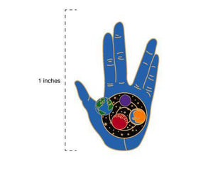 LLAP Enamel Pin | Star Trek BLUE Vulcan Hand | Live Long and Prosper Star Trek Geeky Gifts