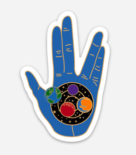 Blue Live Long and Prosper Vinyl Sticker 2.02