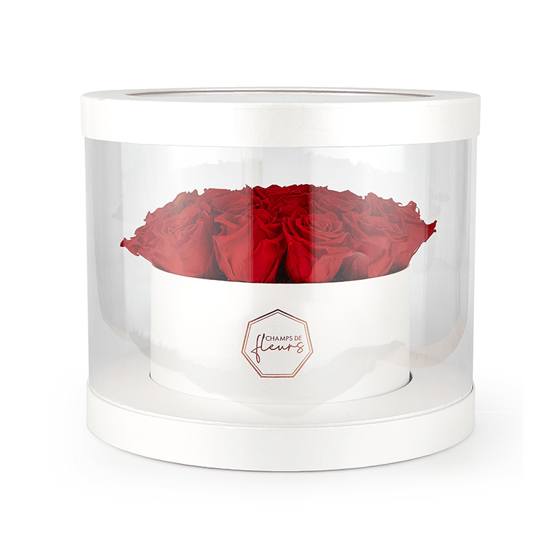 Le luxe transparent box of roses