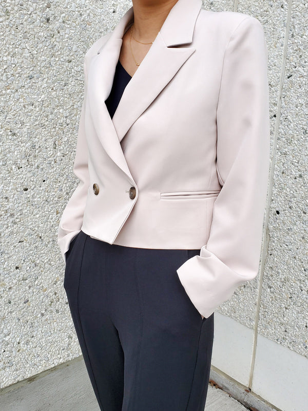 Cropped Double Breasted Blazer
