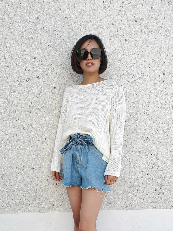 Boatneck Textured Top