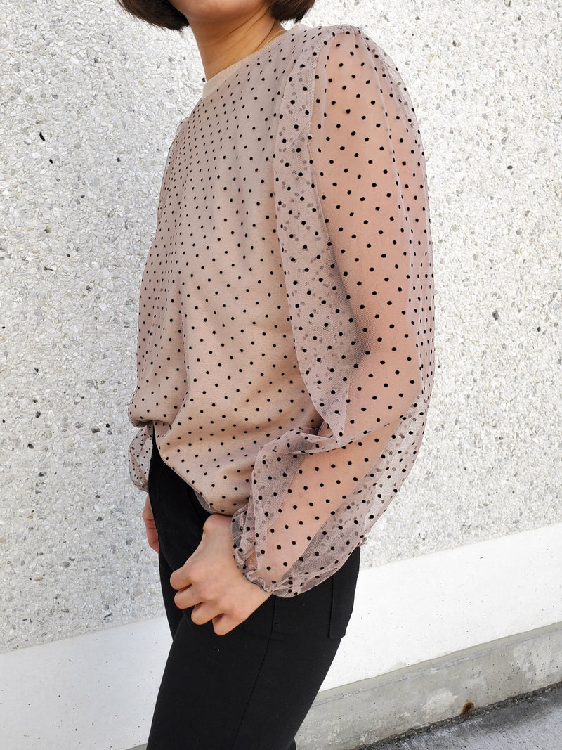Organza Dotted Top
