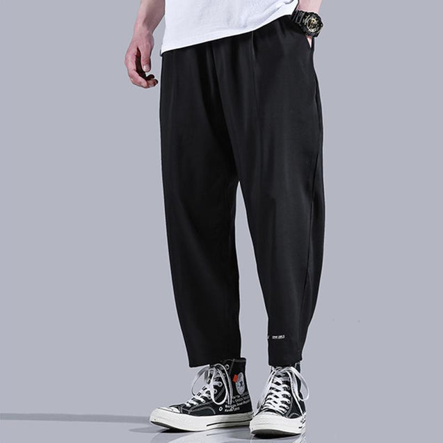Casual Solid Colour Loose Pants