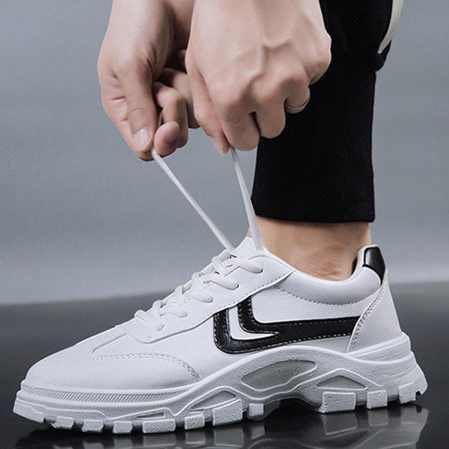 Sportive men's lace-up low-top running shoes sneakers