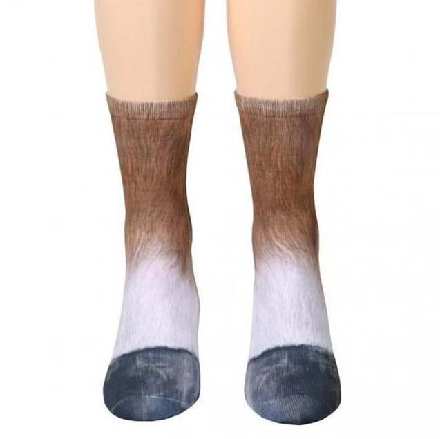 Unisex Adult and Kids Animal Paw Crew Socks