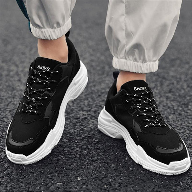Casual fashion men's mixed color sneakers