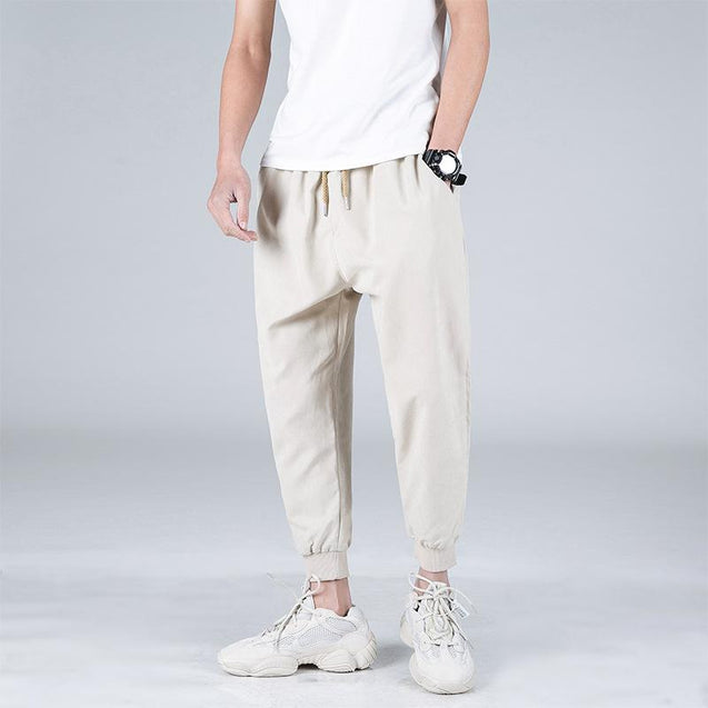 Mens Casual Solid Colour Harlan Pants