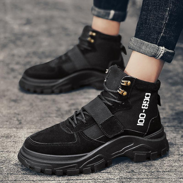 Couple retro warm high help Martin boots