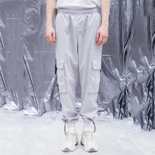 Casual solid color men's overalls