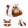 Pet Dog Cat Slipper Winter Soft Warm Sleeping Bag Puppy Warm Cave House Bed Pad