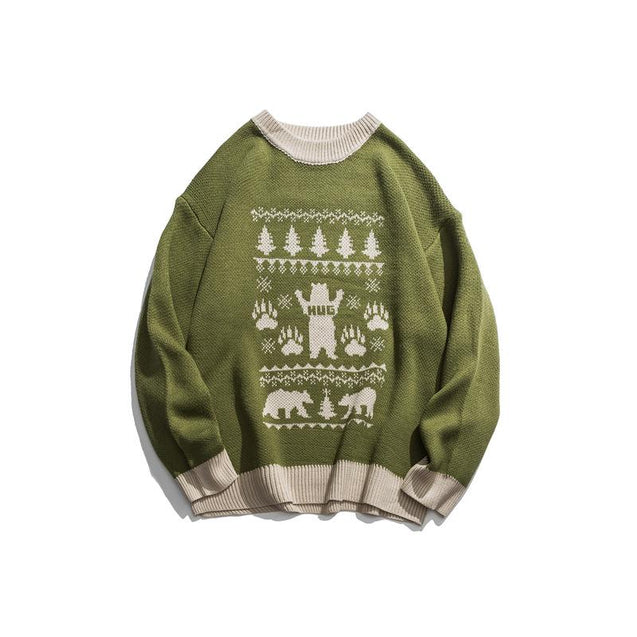 Men's Casual Christmas Tree Pattern Sweater