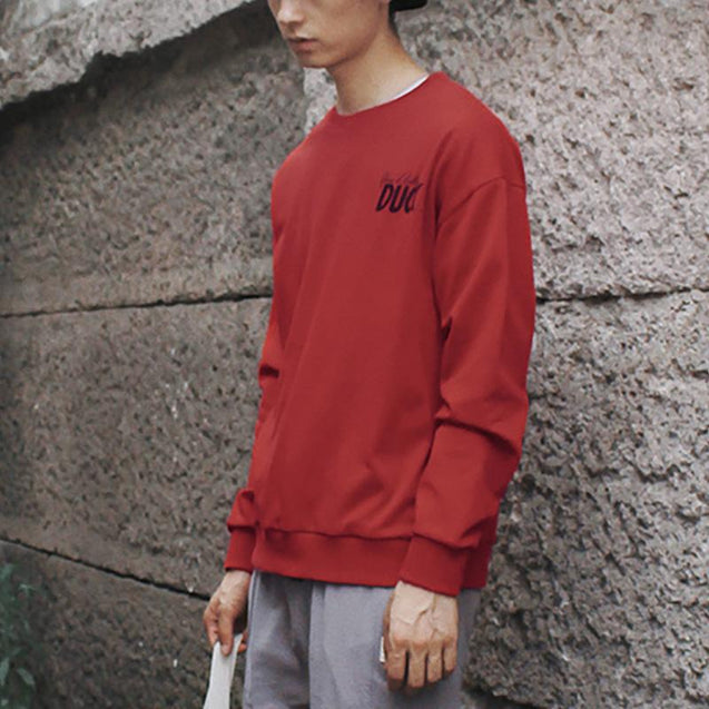 Man's Fashion Printed Colour Loose Sweatshirt