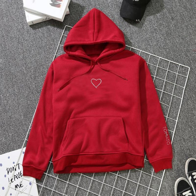 Men's Embroidered Hooded Pullover Sweater