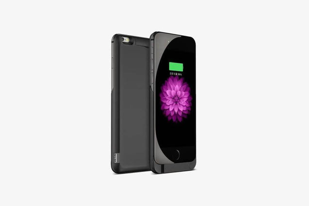 Ultra Thin iPhone Charging Case (Black)