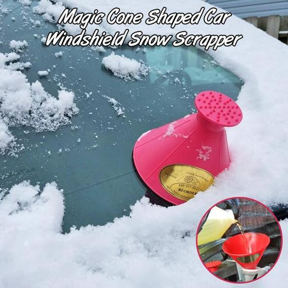 Magic Cone Shaped Car Windshield Snow Scrapper